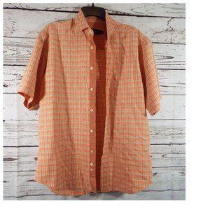 Bugatchi Uomo Plaid Short Sleeve Shirt